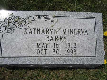 BARRY, KATHARYN MINERVA - Union County, Ohio | KATHARYN MINERVA BARRY - Ohio Gravestone Photos