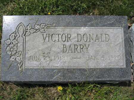 BARRY, VICTOR DONALD - Union County, Ohio | VICTOR DONALD BARRY - Ohio Gravestone Photos