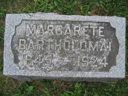 BARTHOLOMAI, MARGARETE - Union County, Ohio | MARGARETE BARTHOLOMAI - Ohio Gravestone Photos