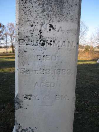 BAUGHMAN, ANNA - Union County, Ohio   ANNA BAUGHMAN - Ohio Gravestone Photos