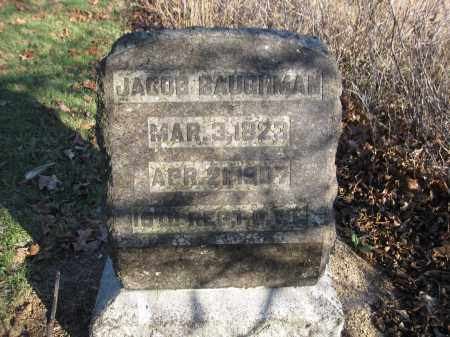 BAUGHMAN, JACOB - Union County, Ohio | JACOB BAUGHMAN - Ohio Gravestone Photos