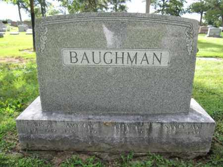 BAUGHMAN, NANCY JANE - Union County, Ohio | NANCY JANE BAUGHMAN - Ohio Gravestone Photos