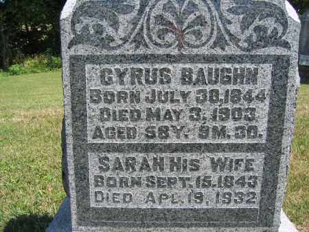 BAUGHN, SARAH - Union County, Ohio | SARAH BAUGHN - Ohio Gravestone Photos