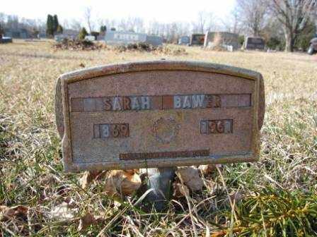 BAWER, SARAH - Union County, Ohio | SARAH BAWER - Ohio Gravestone Photos