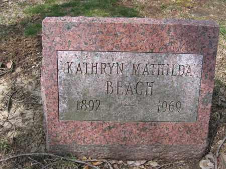 BEACH, KATHRYN MATILDA - Union County, Ohio | KATHRYN MATILDA BEACH - Ohio Gravestone Photos