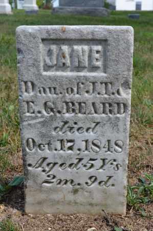 BEARD, JANE - Union County, Ohio | JANE BEARD - Ohio Gravestone Photos