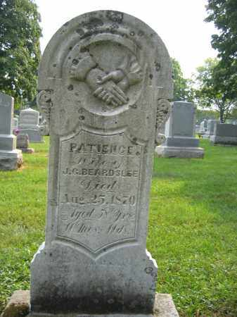 BEARDSLEE, PATIENCE - Union County, Ohio | PATIENCE BEARDSLEE - Ohio Gravestone Photos