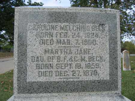 BECK, MARTHA JANE - Union County, Ohio | MARTHA JANE BECK - Ohio Gravestone Photos