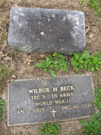 BECK, WILBUR H. - Union County, Ohio | WILBUR H. BECK - Ohio Gravestone Photos