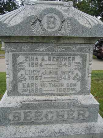 BEECHER, ZINA A. - Union County, Ohio | ZINA A. BEECHER - Ohio Gravestone Photos