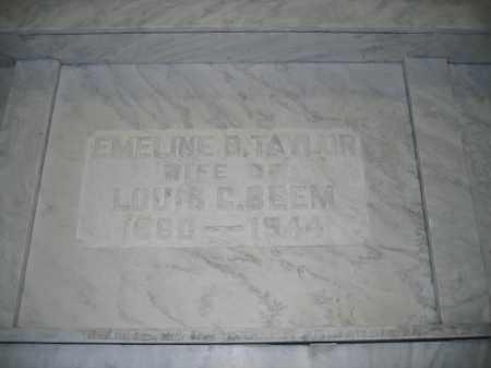 BEEM, EMELINE B. TAYLOR - Union County, Ohio | EMELINE B. TAYLOR BEEM - Ohio Gravestone Photos