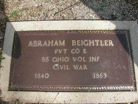 BEIGHTLER, ABRAHAM - Union County, Ohio | ABRAHAM BEIGHTLER - Ohio Gravestone Photos