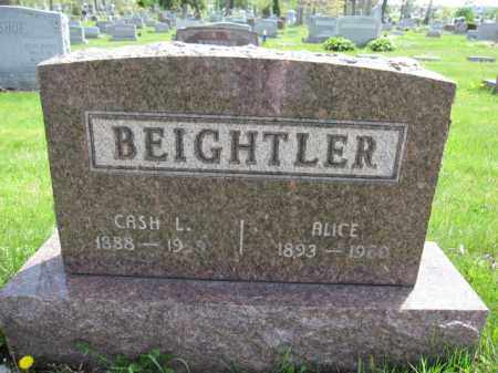 BEIGHTLER, CASH L. - Union County, Ohio | CASH L. BEIGHTLER - Ohio Gravestone Photos