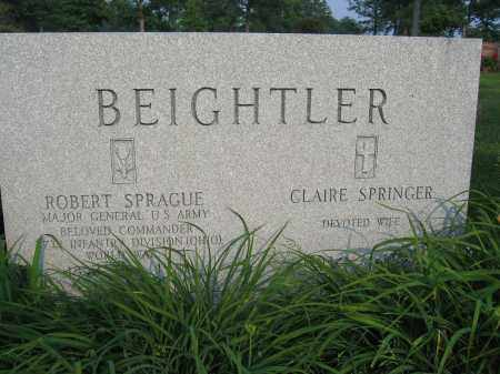 BEIGHTLER, CLAIRE SPRINGER - Union County, Ohio | CLAIRE SPRINGER BEIGHTLER - Ohio Gravestone Photos