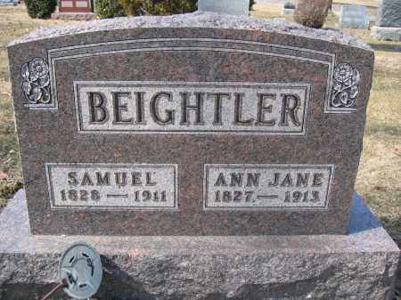 BEIGHTLER, ANN JANE - Union County, Ohio | ANN JANE BEIGHTLER - Ohio Gravestone Photos