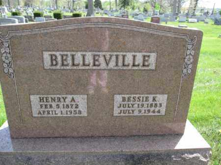 BELLEVILLE, BESSIE K. - Union County, Ohio | BESSIE K. BELLEVILLE - Ohio Gravestone Photos