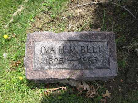 BELT, IVA H.M. - Union County, Ohio | IVA H.M. BELT - Ohio Gravestone Photos