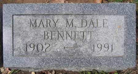 BENNETT, MARY M. DALE - Union County, Ohio | MARY M. DALE BENNETT - Ohio Gravestone Photos