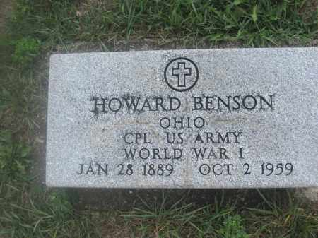 BENSON, HOWARD - Union County, Ohio | HOWARD BENSON - Ohio Gravestone Photos