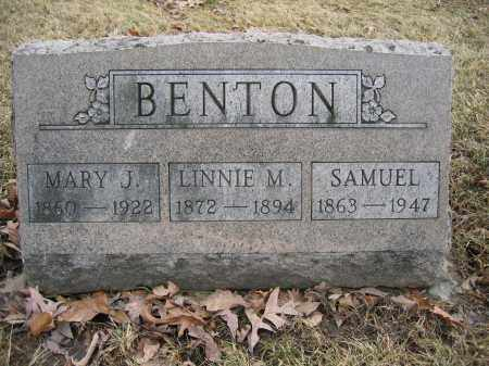 BENTON, MARY J. - Union County, Ohio | MARY J. BENTON - Ohio Gravestone Photos