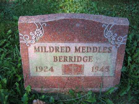 BERRIDGE, MILDRED MEDDLES - Union County, Ohio | MILDRED MEDDLES BERRIDGE - Ohio Gravestone Photos