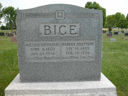 BICE, WILLIAM NATHANIAL - Union County, Ohio | WILLIAM NATHANIAL BICE - Ohio Gravestone Photos