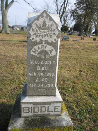 BIDDLE, MARY A. - Union County, Ohio | MARY A. BIDDLE - Ohio Gravestone Photos