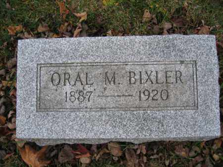 BIXLER, ORAL M. - Union County, Ohio | ORAL M. BIXLER - Ohio Gravestone Photos