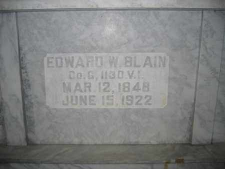 BLAIN, EDWARD W. - Union County, Ohio | EDWARD W. BLAIN - Ohio Gravestone Photos