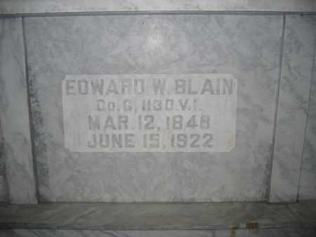 BLAIN, EDWARD W. - Union County, Ohio | EDWARD W. BLAIN - Ohio Gravestone Photos