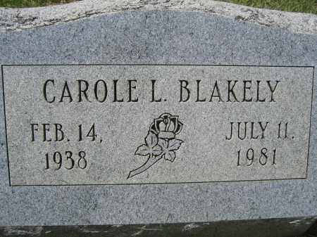 BLAKELY, CAROLE L. - Union County, Ohio | CAROLE L. BLAKELY - Ohio Gravestone Photos