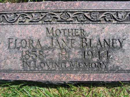 BLANEY, FLORA JANE - Union County, Ohio | FLORA JANE BLANEY - Ohio Gravestone Photos