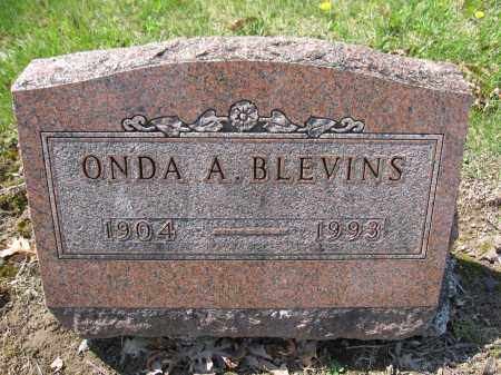 BLEVINS, ONDA A. - Union County, Ohio | ONDA A. BLEVINS - Ohio Gravestone Photos