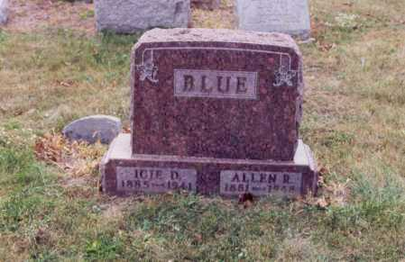 BLUE, ICIE D - Union County, Ohio | ICIE D BLUE - Ohio Gravestone Photos