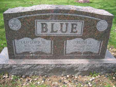 BLUE, CLIFFORD D. - Union County, Ohio | CLIFFORD D. BLUE - Ohio Gravestone Photos