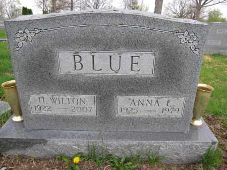BLUE, ANNA L. - Union County, Ohio | ANNA L. BLUE - Ohio Gravestone Photos
