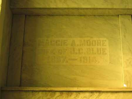 BLUE, MAGGIE A. MOORE - Union County, Ohio | MAGGIE A. MOORE BLUE - Ohio Gravestone Photos