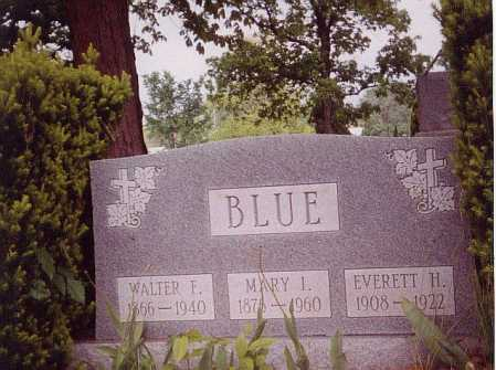 BLUE, WALTER F - Union County, Ohio | WALTER F BLUE - Ohio Gravestone Photos