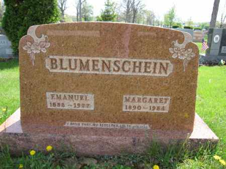 BLUMENSCHEIN, EMANUEL - Union County, Ohio | EMANUEL BLUMENSCHEIN - Ohio Gravestone Photos
