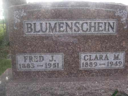 BLUMENSCHEIN, FRED J. - Union County, Ohio | FRED J. BLUMENSCHEIN - Ohio Gravestone Photos
