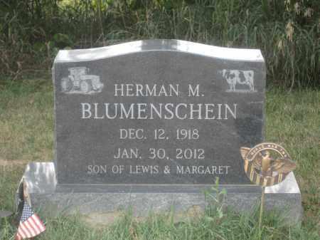 BLUMENSCHEIN, HERMAN M. - Union County, Ohio | HERMAN M. BLUMENSCHEIN - Ohio Gravestone Photos