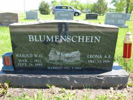 BLUMENSCHEIN, HAROLD W.O. - Union County, Ohio | HAROLD W.O. BLUMENSCHEIN - Ohio Gravestone Photos
