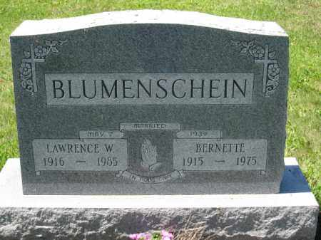BLUMENSCHEIN, LAWRENCE W. - Union County, Ohio | LAWRENCE W. BLUMENSCHEIN - Ohio Gravestone Photos
