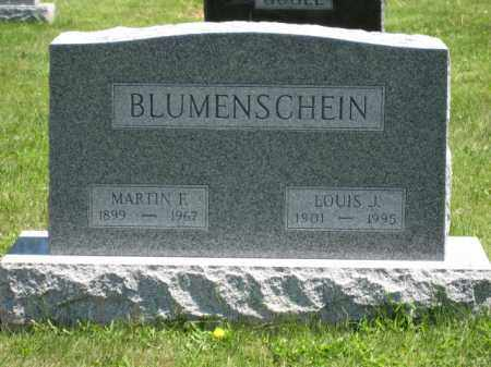 BLUMENSCHEIN, LOUIS J. - Union County, Ohio | LOUIS J. BLUMENSCHEIN - Ohio Gravestone Photos