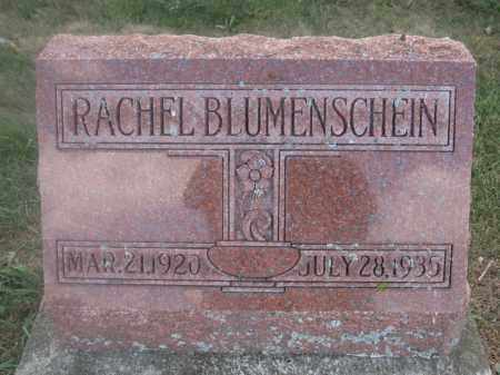 BLUMENSCHEIN, RACHEL - Union County, Ohio | RACHEL BLUMENSCHEIN - Ohio Gravestone Photos