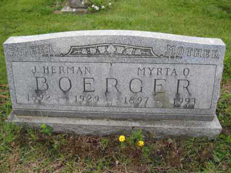 BOERGER, J. HERMAN - Union County, Ohio | J. HERMAN BOERGER - Ohio Gravestone Photos