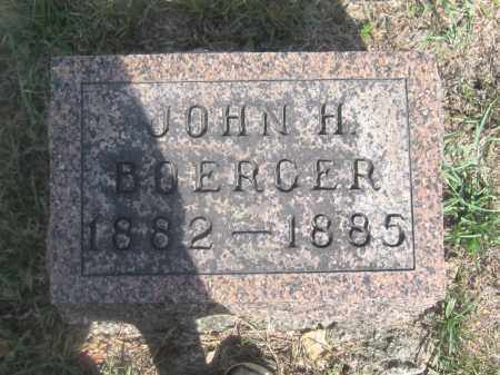 BOERGER, JOHN H. - Union County, Ohio | JOHN H. BOERGER - Ohio Gravestone Photos