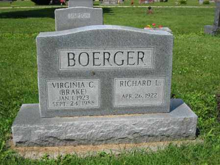 BOERGER, VIRGINIA C. - Union County, Ohio | VIRGINIA C. BOERGER - Ohio Gravestone Photos