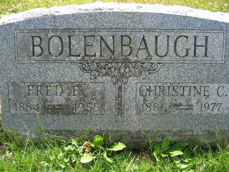 BOLENBAUGH, FRED F. - Union County, Ohio | FRED F. BOLENBAUGH - Ohio Gravestone Photos
