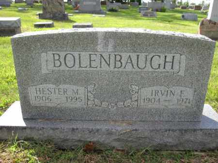 BOLENBAUGH, IRVIN F. - Union County, Ohio | IRVIN F. BOLENBAUGH - Ohio Gravestone Photos